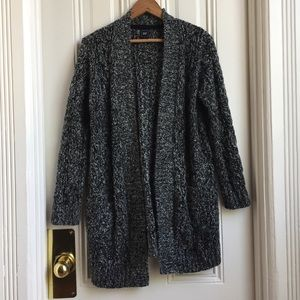 Gap Grey Knit Open Front Cardigan